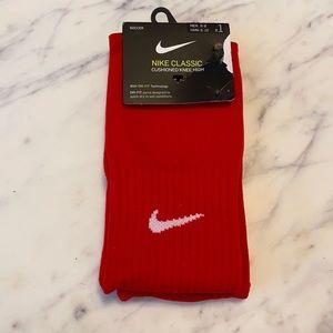 Soccer Nike Classic Red Knee High Socks NWT